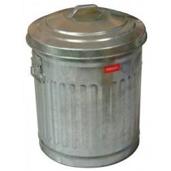 PATTUMIERA in metallo zincato AMERICAN STYLE - D.32 cm H 46