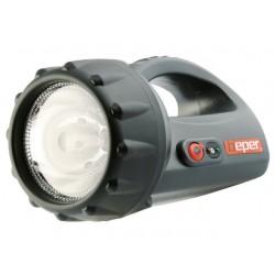 TORCIA LAMPADA RICARICABILE 8 LED E 1 ALOGENA