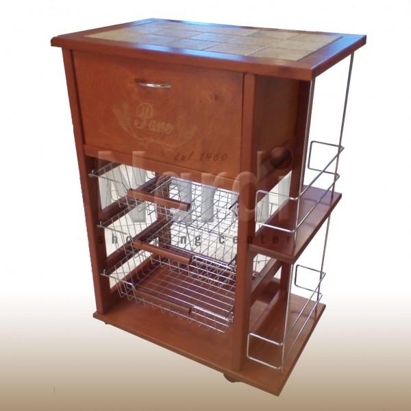 Carrello Cucina Con Portabottiglie ~ Idées de Design D\'intérieur